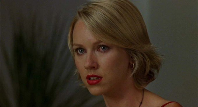 """Happy birthday, Naomi Watts! Recall this astonishing feat of acting in \""""Mulholland Dr.\"""":"""
