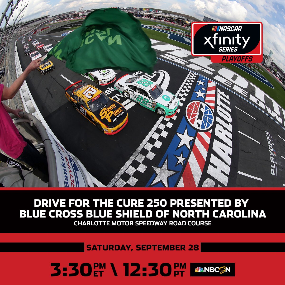 Who else will punch their ticket to the Round of 8? The #BlueCrossNC250 goes live on NBCSN at 2:30 p.m. CT.