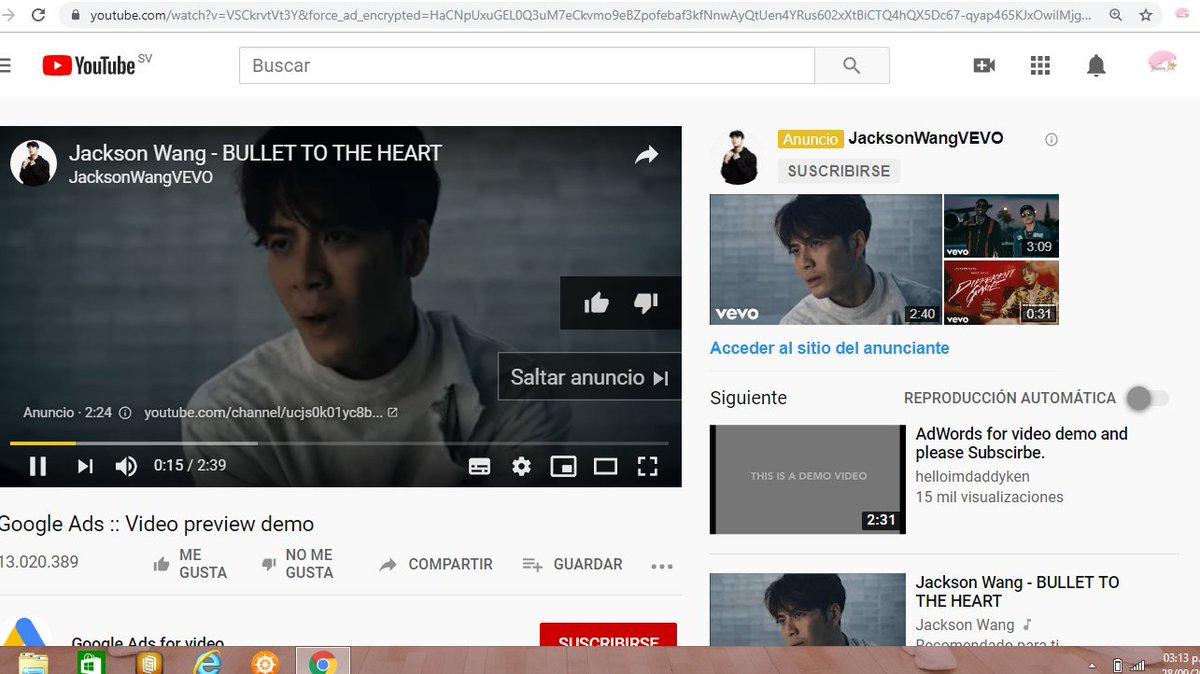 Since ik a ot of us get a little tired by stream and stuff i just paid for ad s to #JacksonWang #BULLETOTHEHEART mv for a couple of days only  lol Hope they check this out soon as possible and then realise it.  #TeamWang  #MIRRORS  #JacksonWang1stAlbum  @JacksonWang852<br>http://pic.twitter.com/rj9vLwQoim