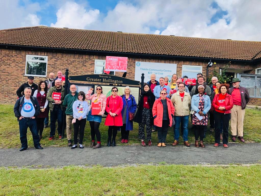 Excellent training session in Hollington todqy, followed by a door knocking session - 40 people turned up, so knocked on lots of doors ... lots of conversations, people registering to vote, and joining the Labour Party too. Thanks to @char_gerada for organising it #ForTheMany