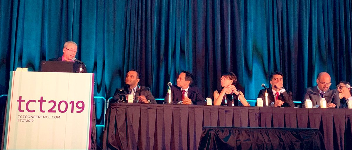 Dr. Rajiv Gulati @MayoClinicCV moderating vascular access session at #TCT2019 @TCTConference #RadialFirst