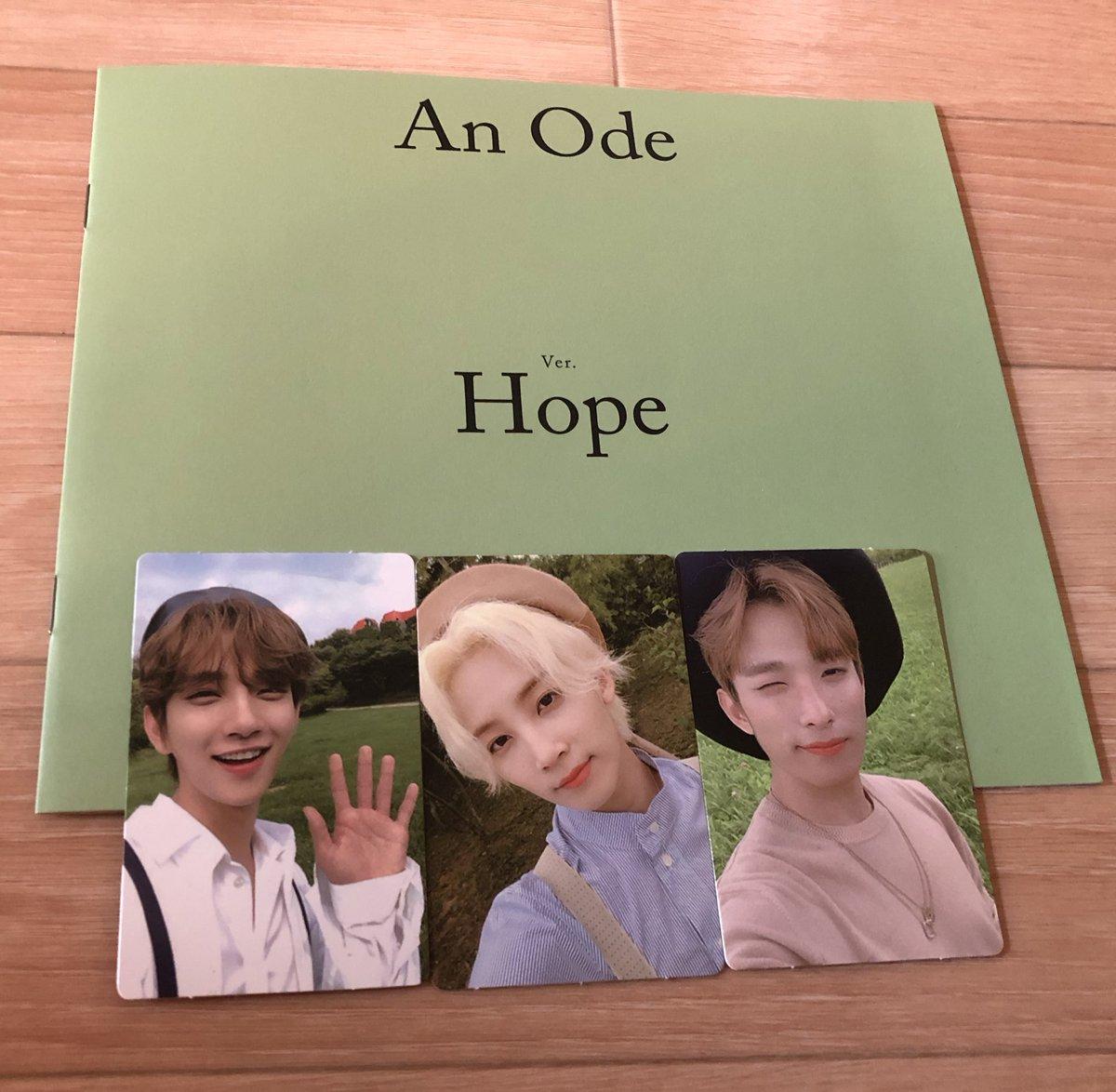 SEVENTEEN AnOde ver Hope トレカ 譲→画像のもの 求→同種のウォヌ、ミンギュ (ウォヌ優先)  郵送での交換希望です 条件の合う方いましたらリプお願います🤲  #SEVENTEEN #トレカ #ジョンハン #ドギョム #ジス #スングァン https://t.co/YimC3zKXOv