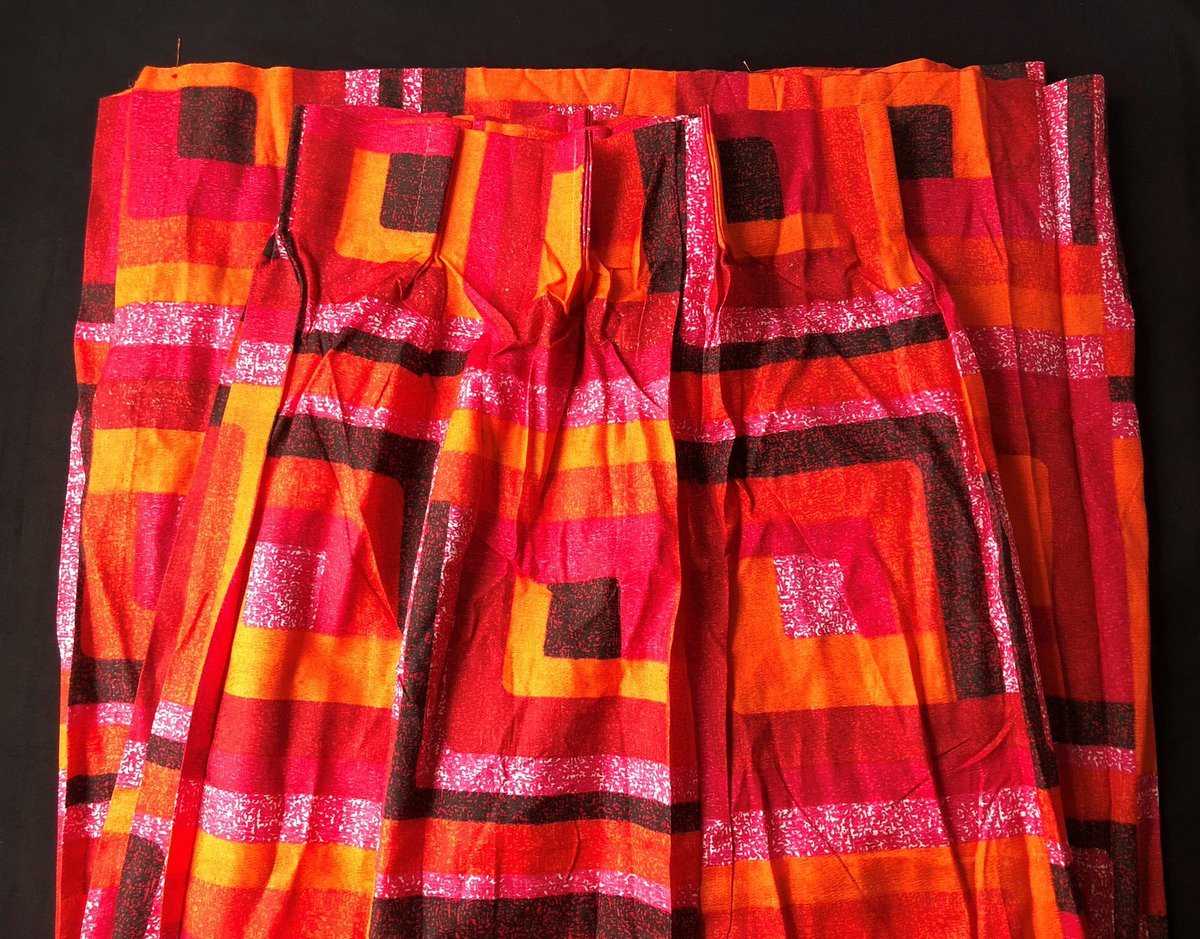Robyn Lewis On Twitter Forsale On Ebay Https T Co Yofhbgxljk Midcenturymodern Midcentury Mcm Curtains Drapes 2 Panels Vintage Retro Homedecor Pink Red Orange Squares Geometric Pattern Eames 50s 60s Https T Co Iiknqwfegg