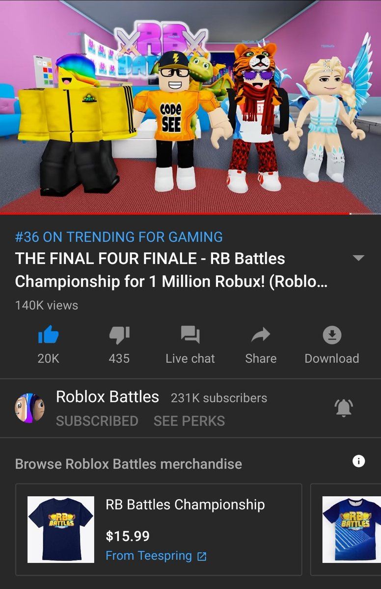 Roblox Battles On Twitter The Finale Is On Youtube Gaming