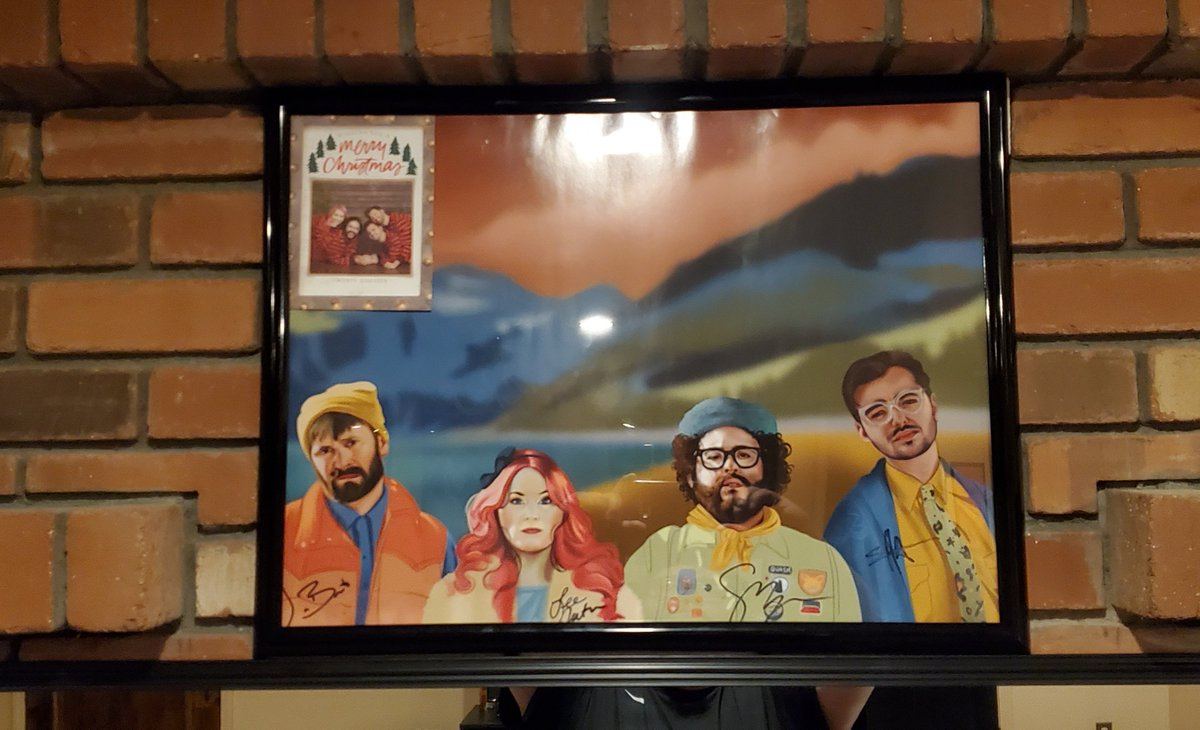 Bought this thing when it first came out but never had time to frame and mount it! my favorite beautiful people! also the perfect christmas card as well! @joebereta @ElliottcMorgan @stevezaragoza @leenewtonsays #FunnyVoteValleyfolk