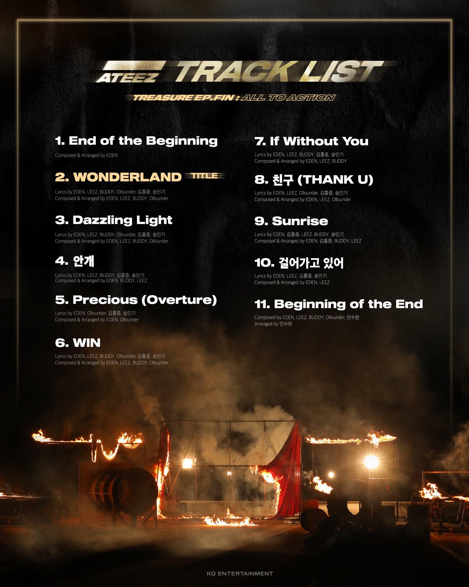 Ateez track list