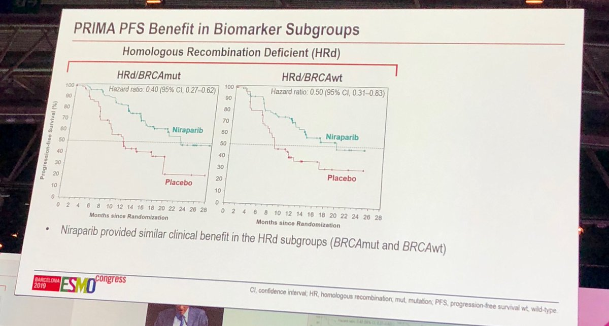 Linda Mileshkin On Twitter Practice Changing Prima And Paola Studies In Ovarian Cancer Esmo2019 Show That Maintenance Parpi Benefit All Women Aafter First Line Chemo Regardless Of Brca Status Let S Hope We