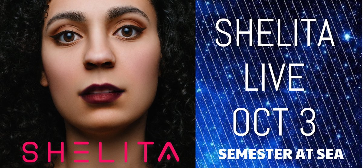 I'm going to be performing live the SHELITA album at Semester at Sea on Oct 3, thanks to Joyce Gioia and Scott Marshall. I'm so excited! ❤️🎉💖 We are sailing from Spain to Croatia. I'm also going to be speaking Oct 4. https://t.co/c80b8jww7a  #SASfa19 @JoyceGioia @SemesterAtSea https://t.co/Ffu0mRNIGz