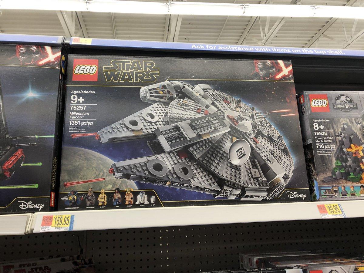 Thomas Bonneville On Twitter Yo New Star Wars Ep Ix The Rise Of Skywalker Lego Sets On The Shelf At Walmart In Mn Millenniumfalcon 75257 Kyloren Shuttle 75256 Major Vonreg Tiefighter 75240
