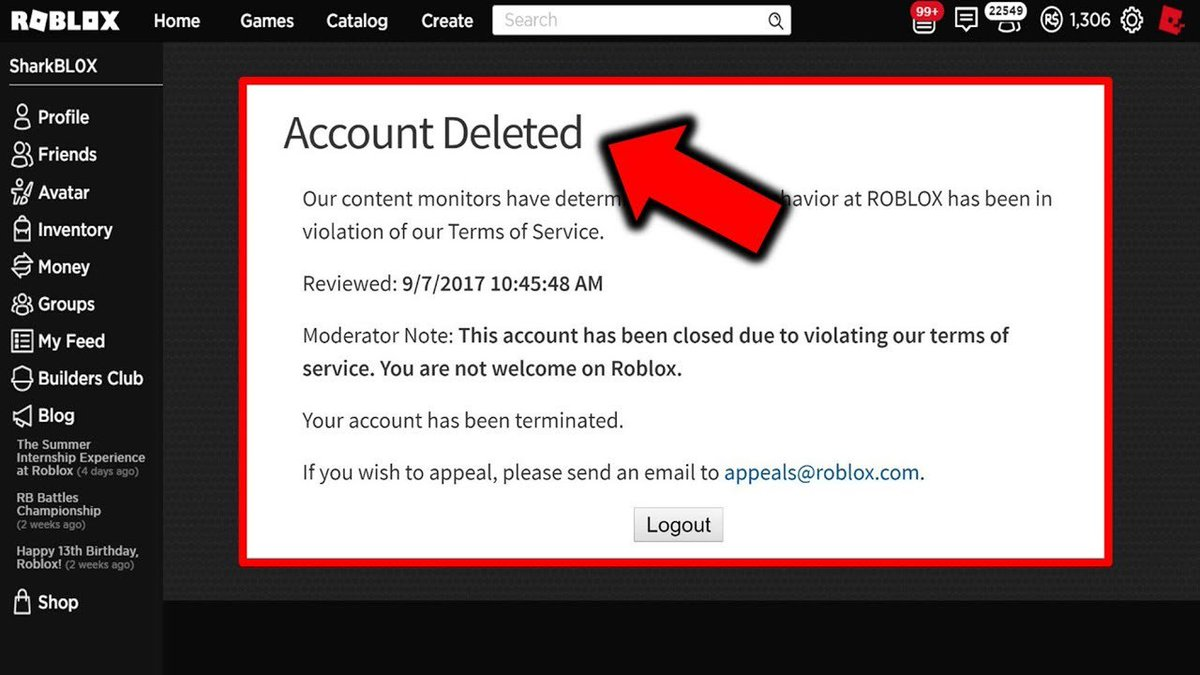 Roblox Account Deleted Memes Pcgame On Twitter How To Get Unbanned On Roblox Account