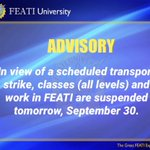 Image for the Tweet beginning: #WalangPasok For your guidance, FEATINIANS: