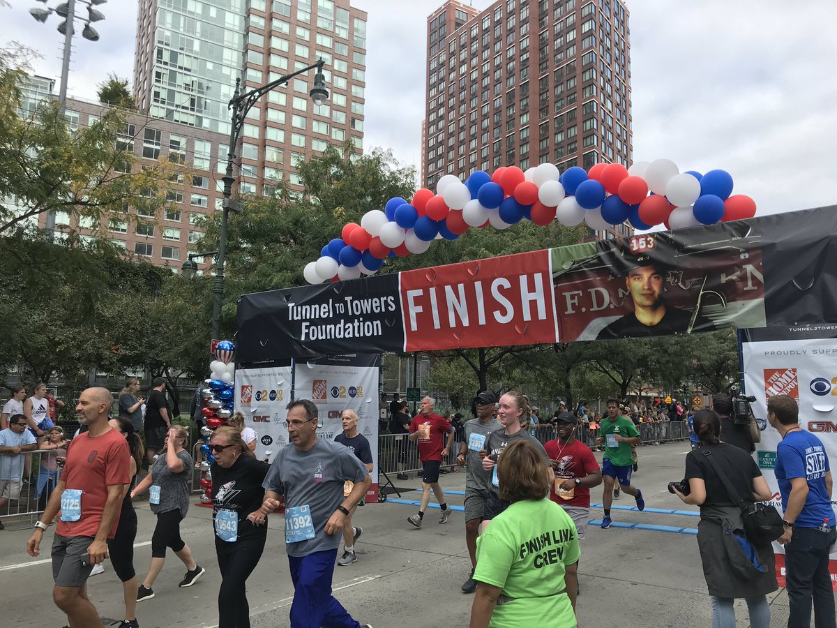 Runners are already hitting the finish line at #T2TRUN! #Tunnel2Towers #T2TRUN2019
