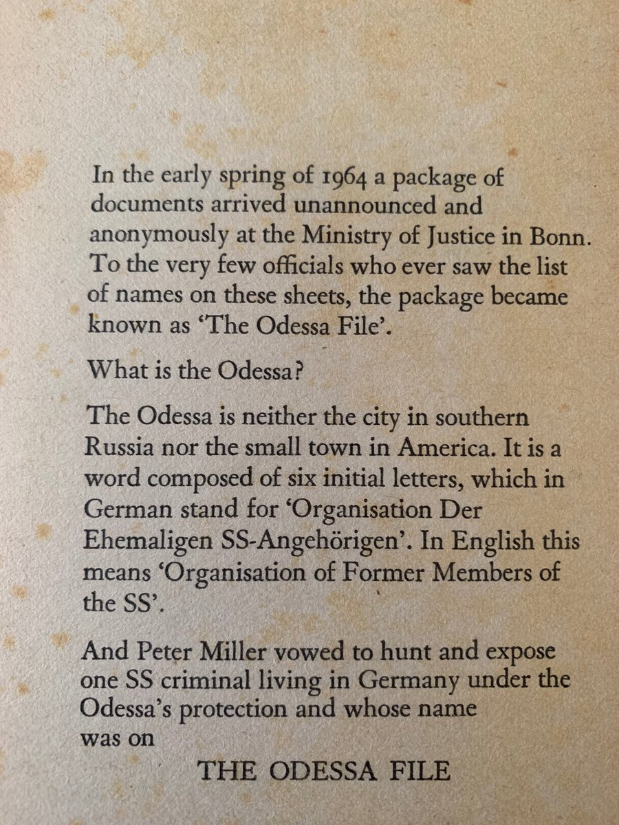 """The ODESSA file"" Nije od Frederika Eštona (Mitar Milošević) već od Frederick Forsyth (""The Day of the Jackal"") #corgi #time #time&lifebuilding pic.twitter.com/O8oGh6oPpy"