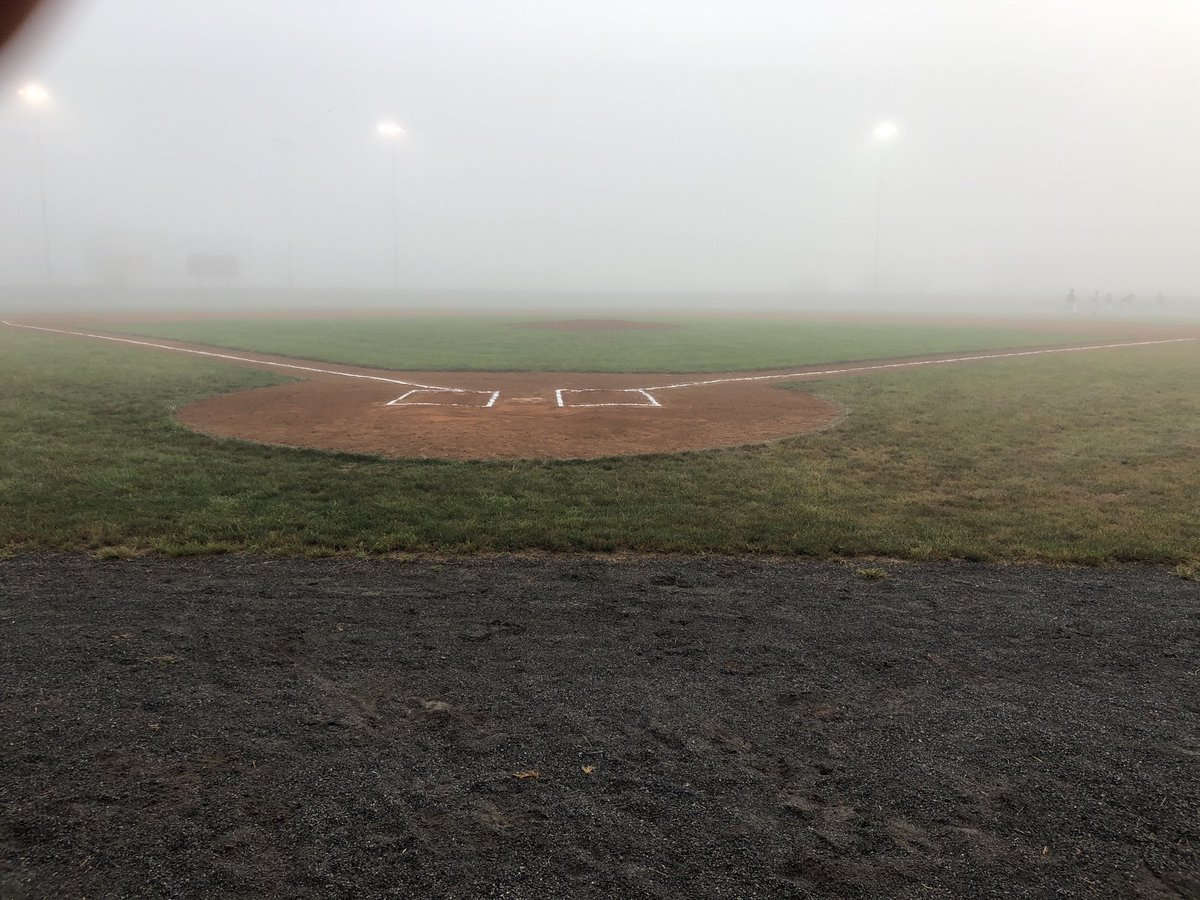 Scheduled 8am game ... but y'all got you some fog here in western part of Virginia.