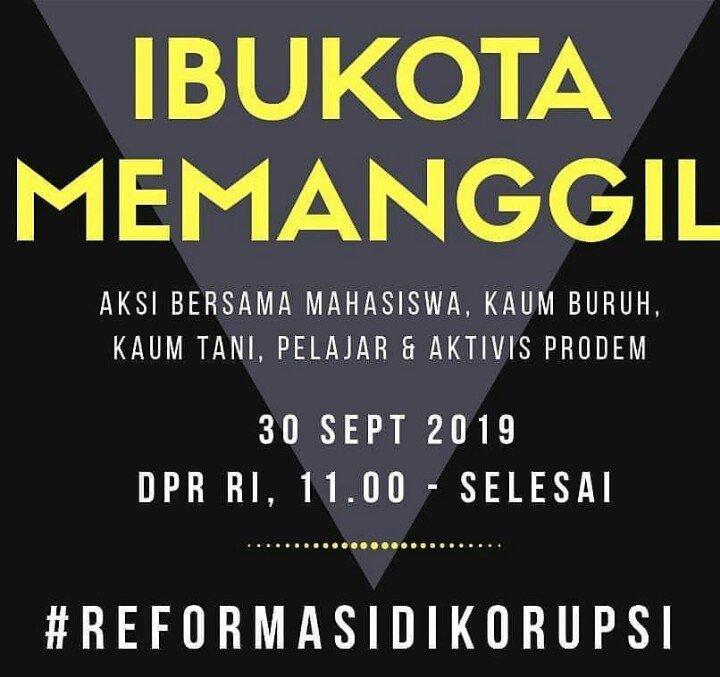 Seruan Aksi di Jakarta