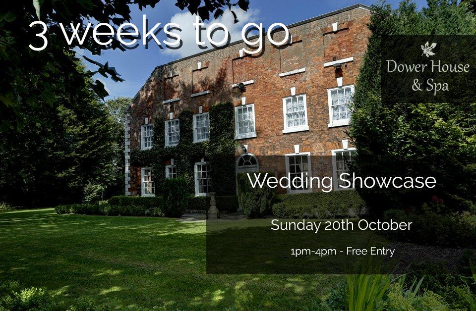 3 Weeks to go! https://t.co/EoyVqhRxvT #WeddingShowcase https://t.co/vD4kF45mCW
