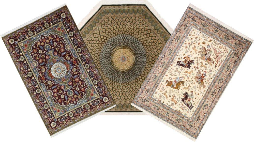 100 S Of Pure Silk Qum Persian Rugs