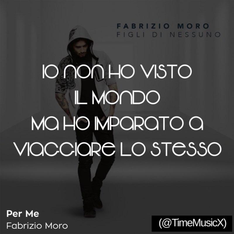 Portami Via Fabrizio Moro Sanremo2017 Quotes Canzoni
