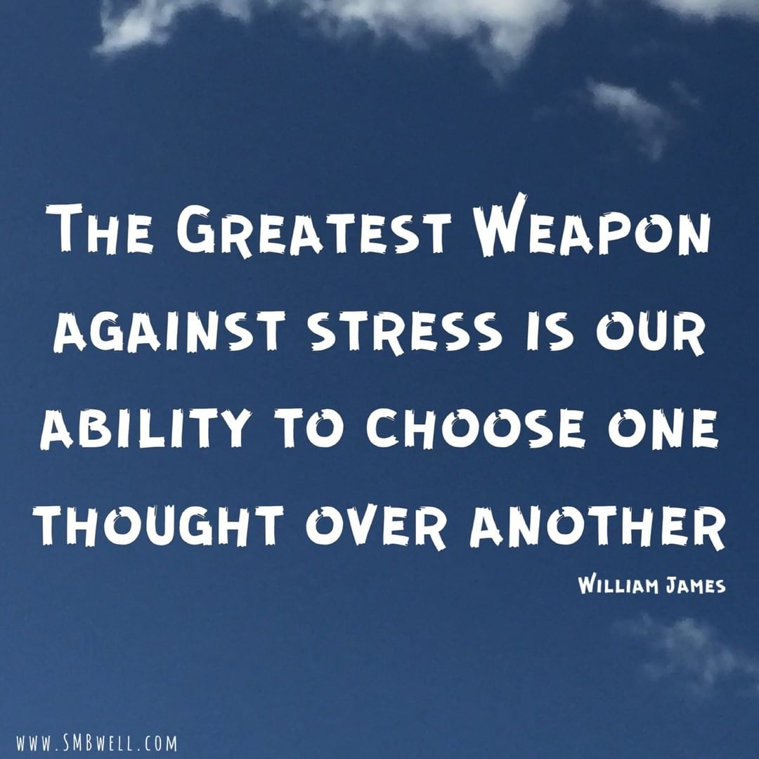 """The Greatest Weapon Against Stress Is Our Ability To Choose One Thought Over Another"" - William James  http:// ow.ly/15Og50vYCuN      . . #mindsetexpert #mindsetcoach #emotionalintelligence #emotionaladulthood<br>http://pic.twitter.com/0w2oQztOCn"