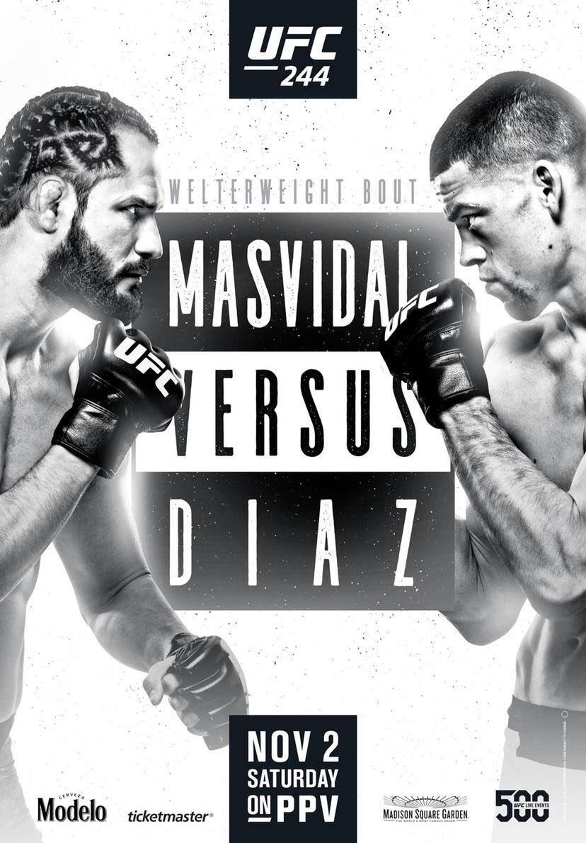 UFC 244 Masvidal vs Diaz poster