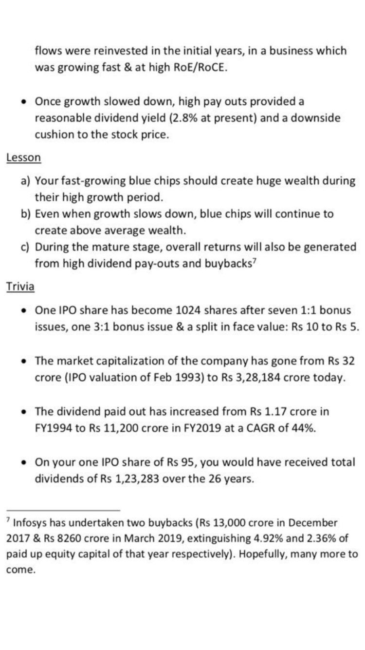 Multiplier777 On Twitter Some More Interesting Information On Infosys 1 Since Ipo Has Given Cagr Return Of 42 Money Multiplied Over 9544 Times 2 On One Ipo Share Of Rs 95 You