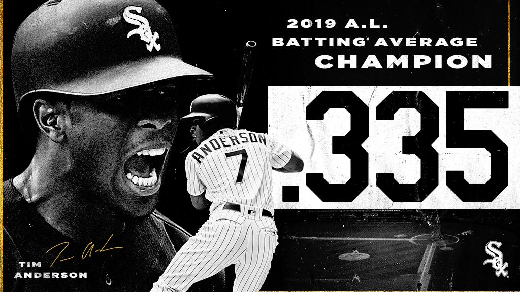 👑 Your 2019 @MLB & A.L. Batting Average Champion – @TimAnderson7!