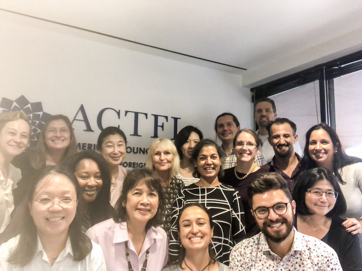 Some hightlights of my weekend with these awesome language educators across 13 different languages and my colleagues at ACTFL. It's always inspiring to be part of a group of amazing professionals discussing and planning amazing things. #AAPPL #QAteam <br>http://pic.twitter.com/kBHL8mJJxj
