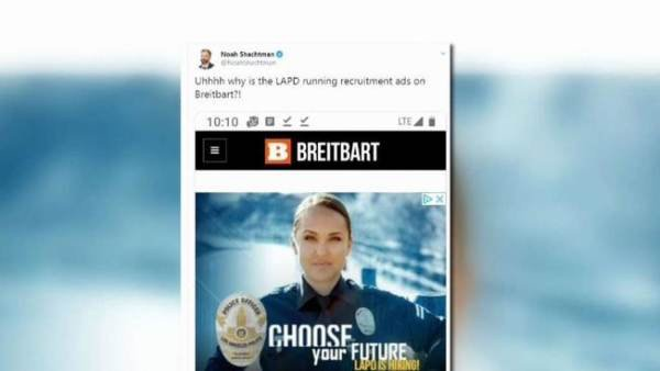 What the Heck? LAPD Takes Shot at Breitbart After Leftist Outrage Over Recruitment Advert... thegatewaypundit.com/2019/09/what-t…