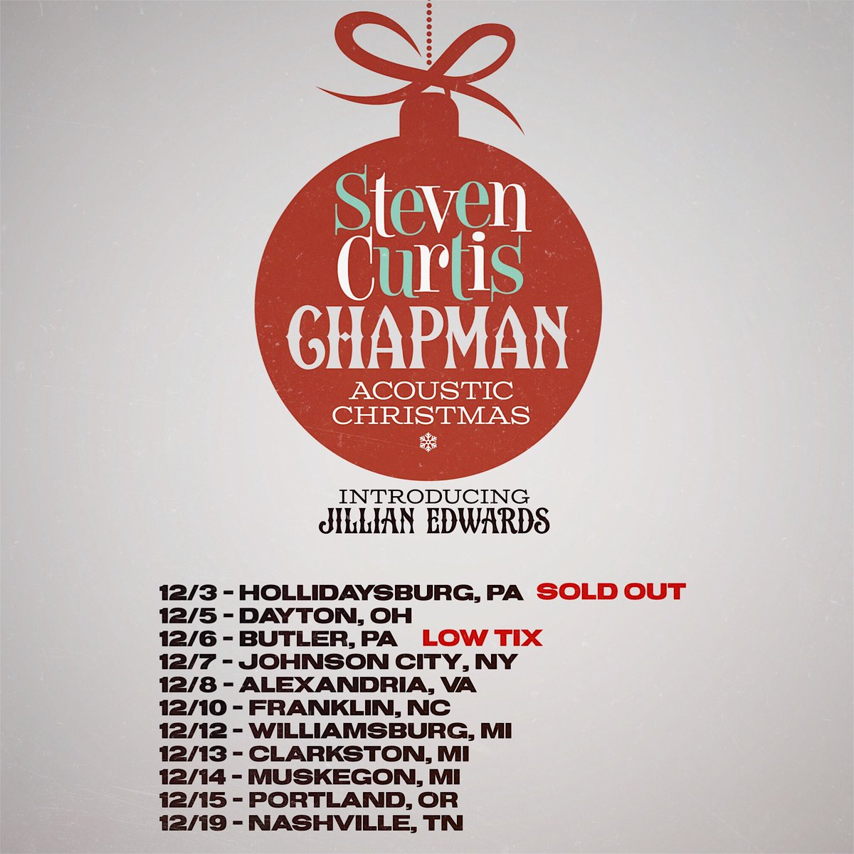 Acoustic Christmas 2019 Johnson City Tn.Jillian Edwards Jillianchappy Twitter