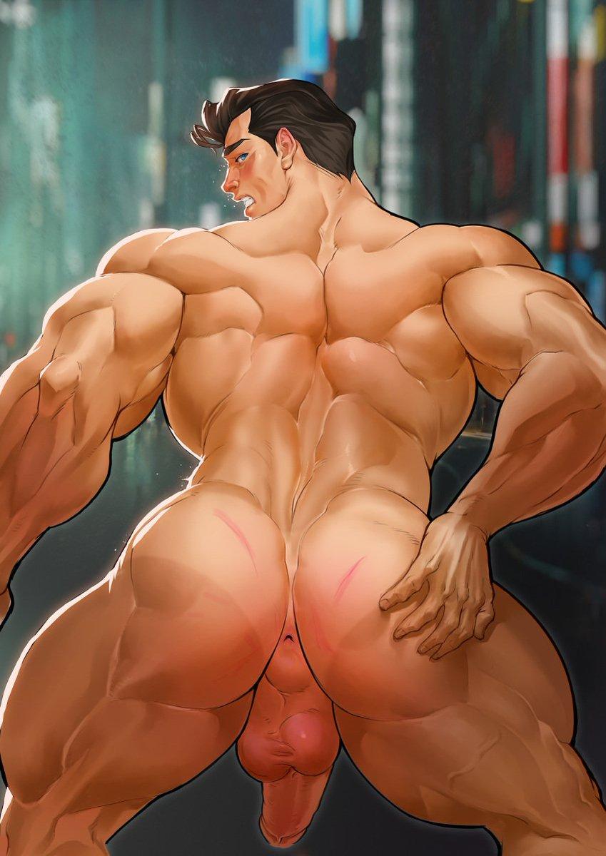 Muscular cartoon hentai porn pics