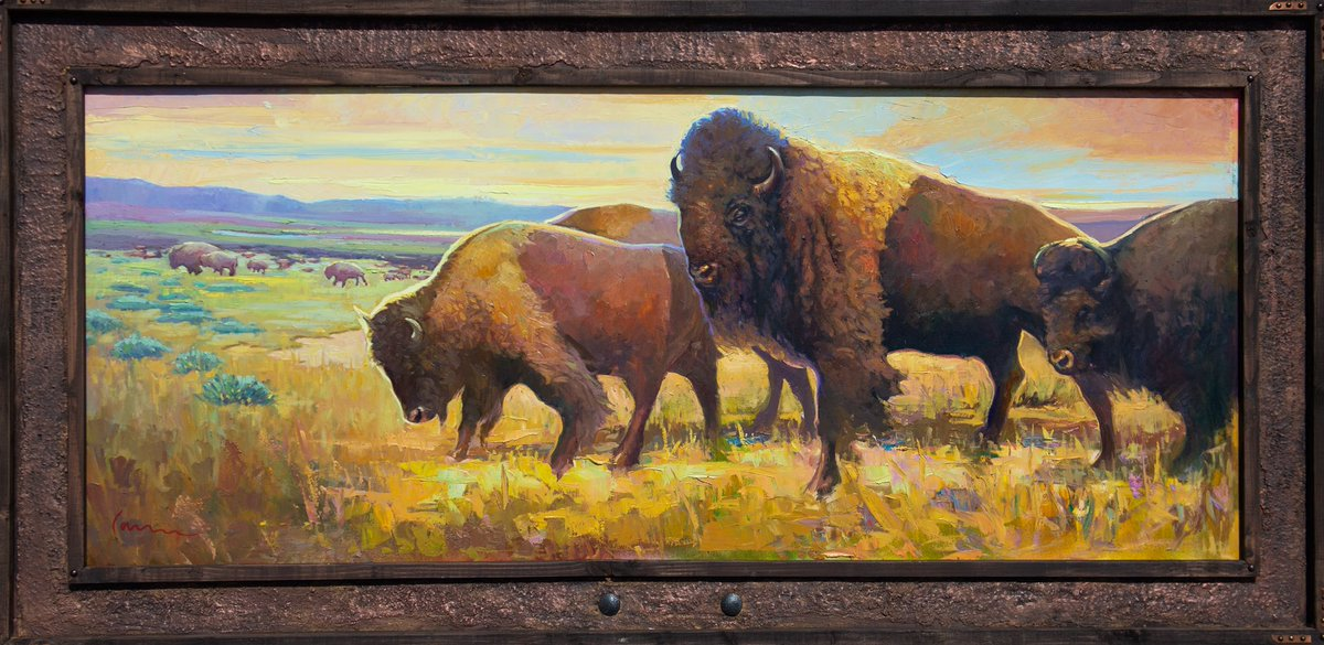 Happy Birthday to my talented dad @camarenamart 🎨 🎈 here is one of my favorite paintings of his, and it's almost 10 feet long!