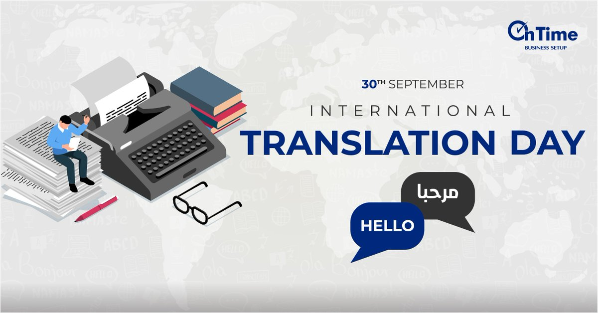 Today is #InternationalTranslationDay !  Let's pay tribute to the work of #language professionals, which plays an important role in bringing nations together.  #TranslationDay #translation #interpretation #OnTimeTranslation https://t.co/Sjx2doBBAh
