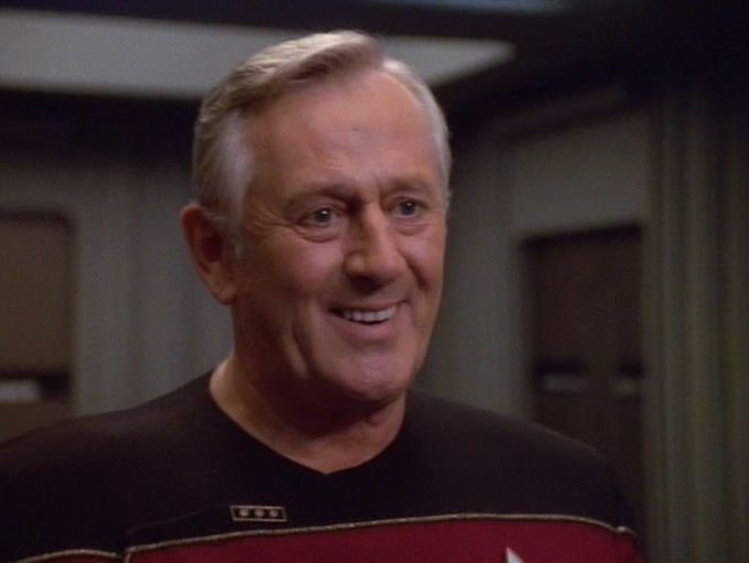 Happy Birthday to Len Cariou, who play Vice Admiral Janeway!!