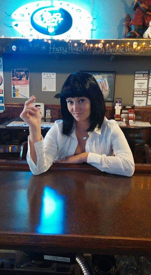 Aly On Twitter My Fav Costume In The Past Few Years Mia Wallace And Yes We Did The Dance Barefoot Until The Bf Dropped A Bottle Of Beer On The