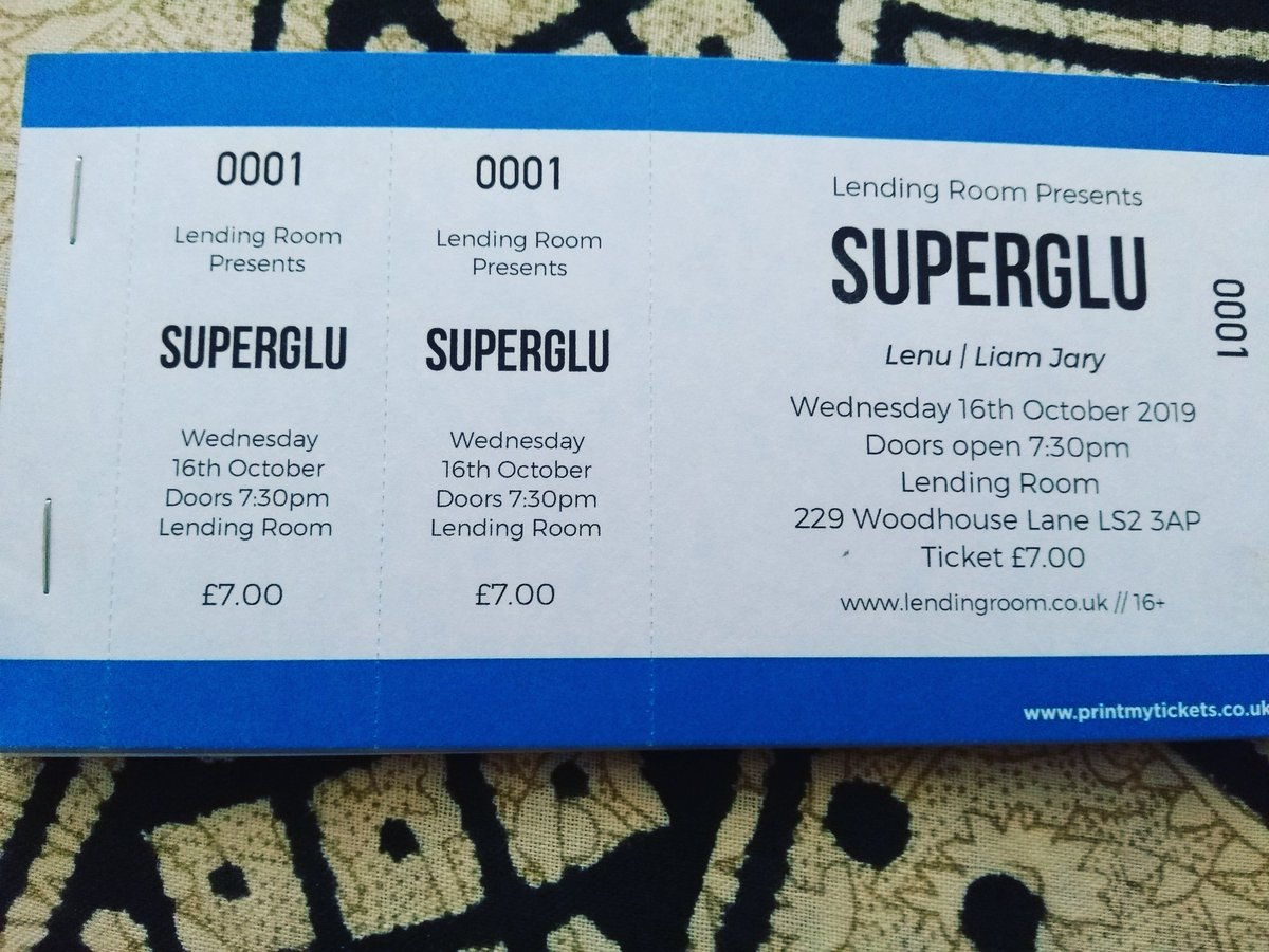 Message me if you would like to get a ticket for our next gig! Can't wait to support @SuperGlu_band at the Lending Room on the 16th October #leedsgigs #leedsmusicscene #NewMusic