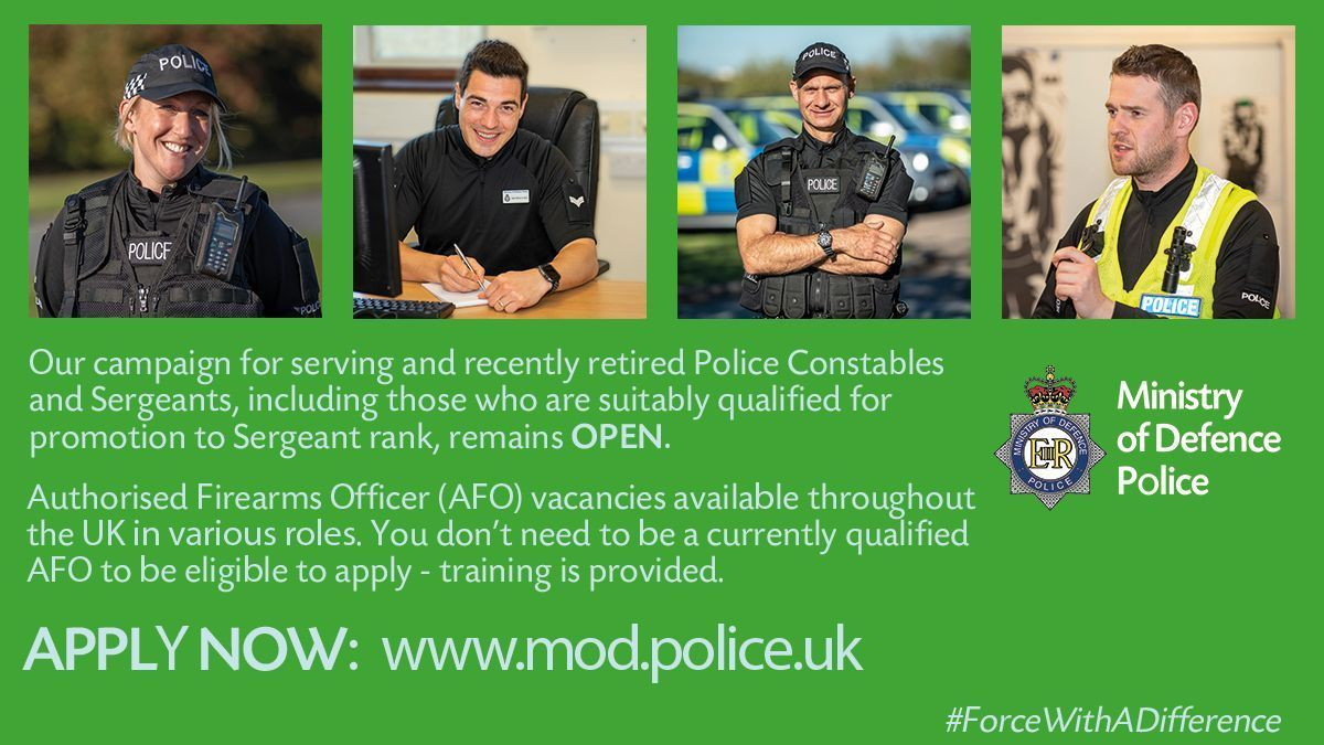 Mod Police Recruitment >> Ministry Of Defence Police Modpolice Twitter