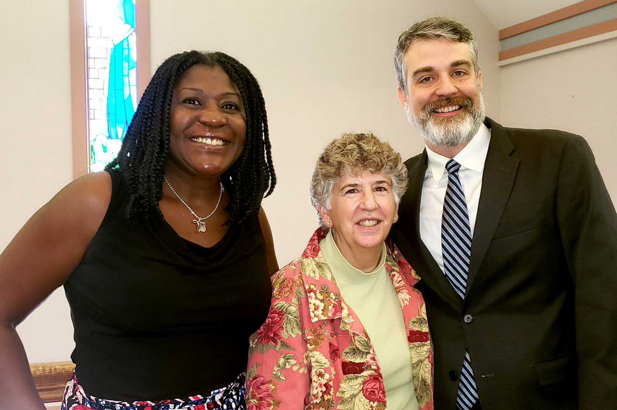 "test Twitter Media - Principal Nampeera Lugira (L) & Director of Admissions Mary Esposito (C) represented Cathedral High School at the Catholic Schools Foundation ""State of the Foundation"" meeting and are pictured here w/ @ICSFBoston Executive Director Michael Reardon (R).  #ICSFBoston 