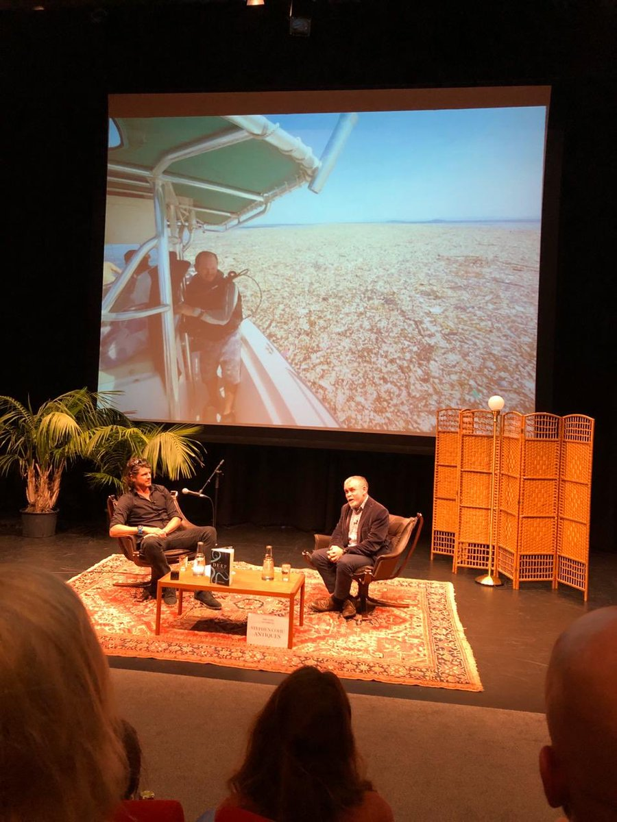 Inspiring conversation with @AlexDavidRogers last night @JsyArtsCentre talking about Alex's recent book - The Deep #thedeep #oceanconservation #oceanculturelife