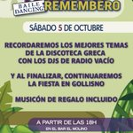 Image for the Tweet beginning: Sábado 5 de octubre a