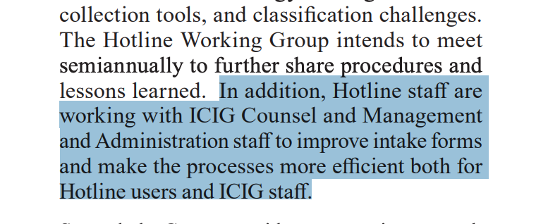 The ICIG was discussing improving intake forms as early as March 2019, according to the watchdogs semiannual report. See page 17 here: fas.org/irp/dni/icig/s… h/t @walkafyre