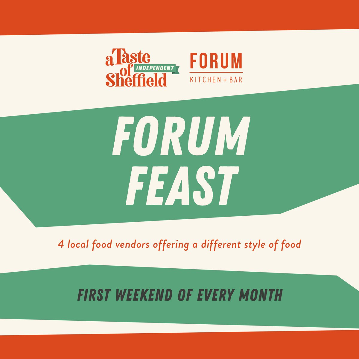Forum Feast hitting our terrace this weekend!