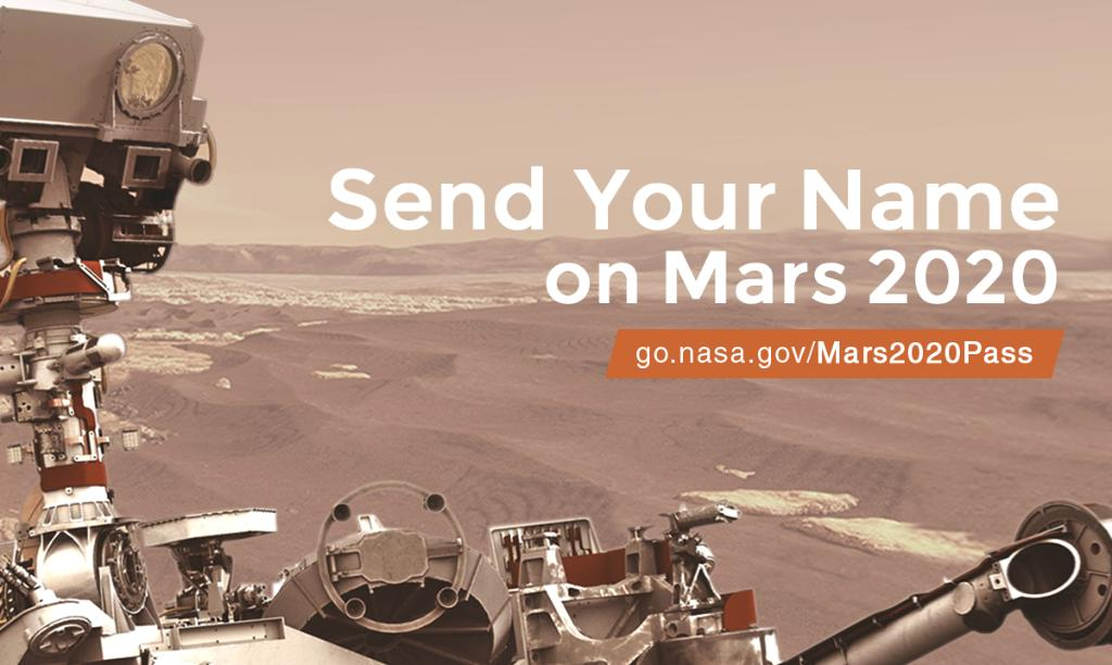 Its not too late to send your name to Mars — but boarding ends tonight! 🤖 Our #Mars2020 Rover is gearing up for its seven-month journey to the Red Planet and you can send your name along for the ride. 🕛 Get your boarding pass before 11:59pm ET: go.nasa.gov/Mars2020pass