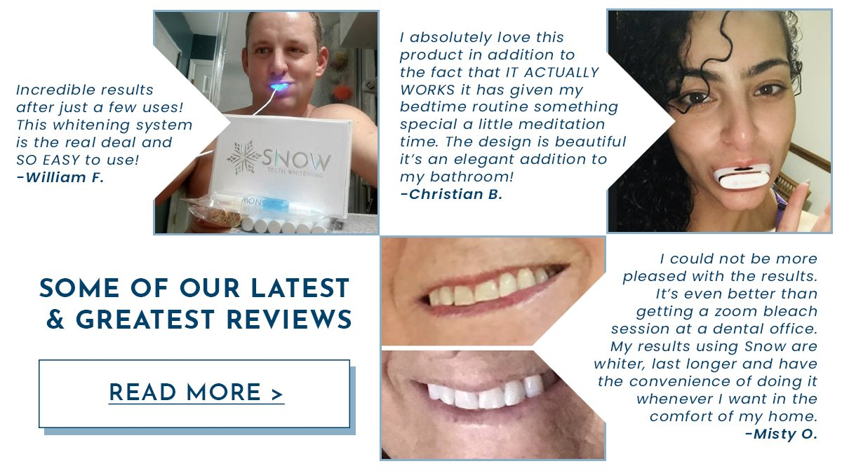 Box Opening  Kit Snow Teeth Whitening