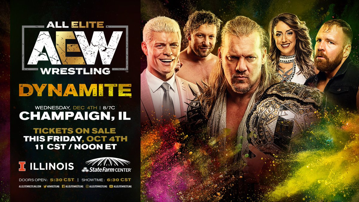 AEW Announces Another Dynamite Episode For Champaign, IL