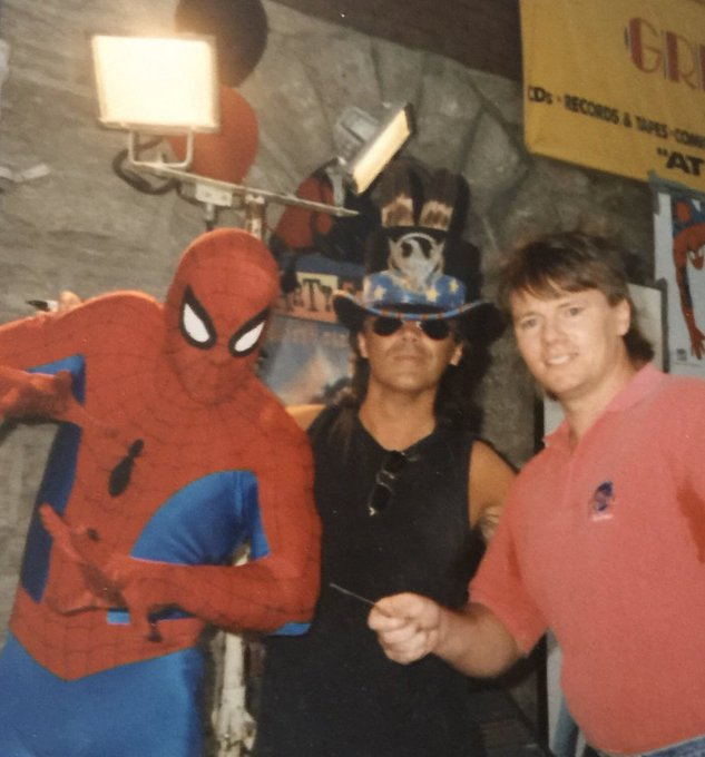 Happy birthday to Marty Stuart from Spider-Man  and me