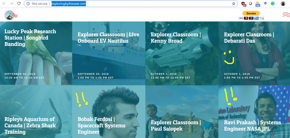 Guys guys, Im presenting for Exploring By The Seat Of Your Pants tomorrow. @EBTSOYP is an amazing initiative that connects school kids with scientists. Check em out! Cant believe Im sharing a platform with super cool NASA scientists ( i.e @tweetsoutloud & Ravi Prakash) ! :O