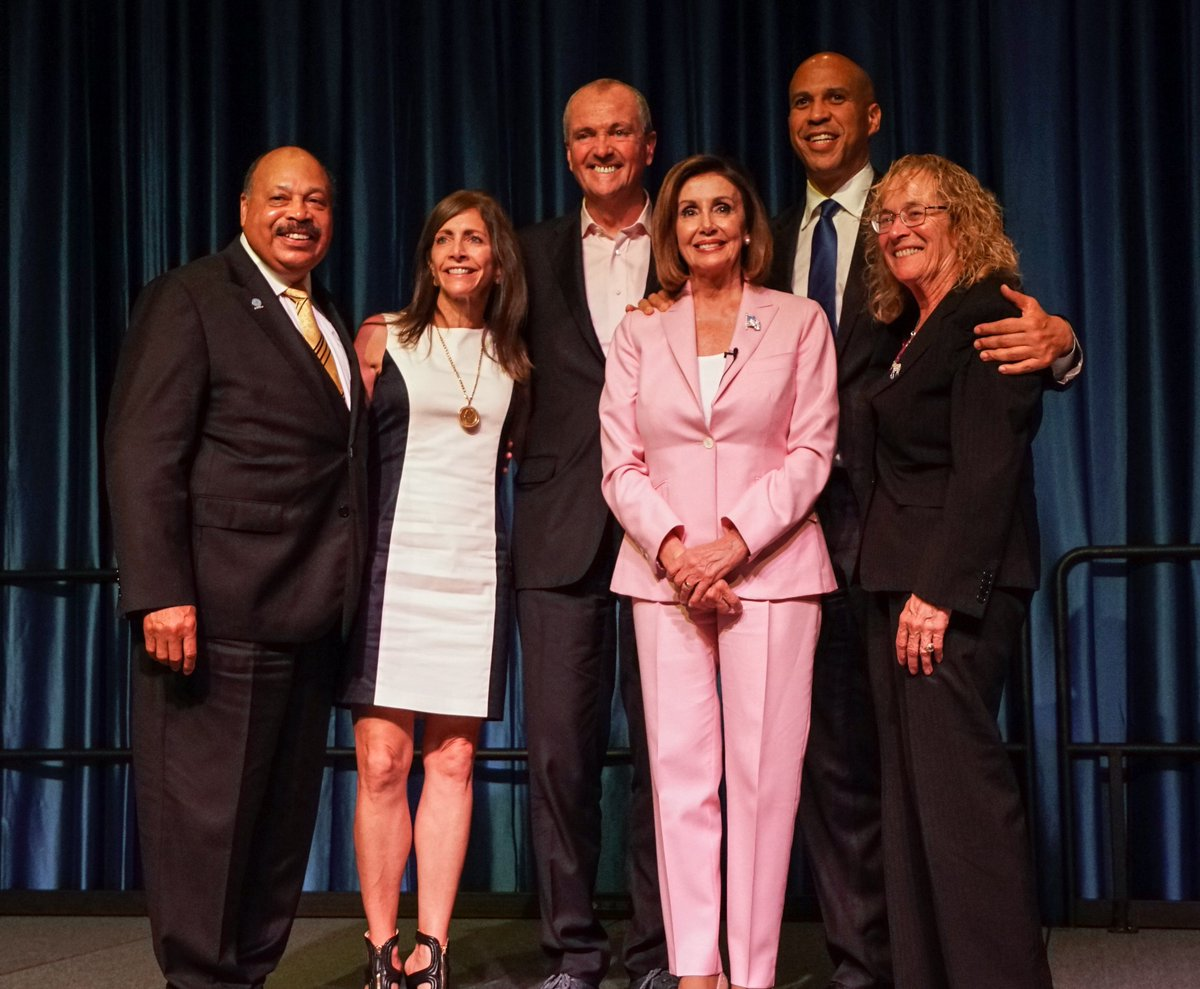 "Thank you Gov. @PhilMurphyNJ, Chairman Currie and the @NJDSC for your invitation to speak and hospitality at the @NJDSC Conference. Your theme of ""Uniting for Progress"" is an inspiring message for NJ and for all who fight for a brighter tomorrow #ForThePeople. –NP"