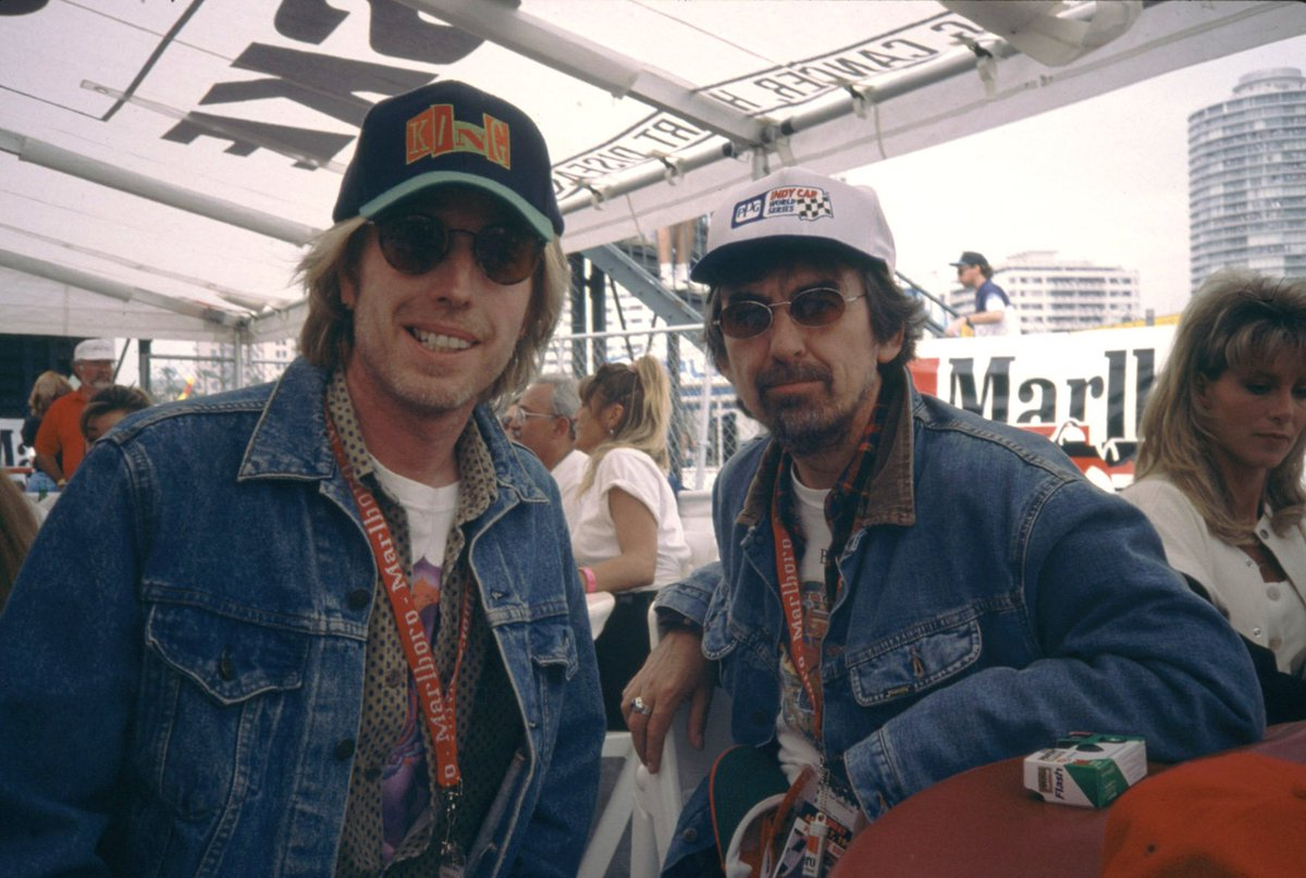 Just a couple of Wilburys at the racetrack @tompetty