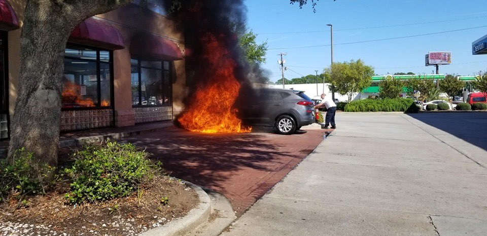 an essential private businesspeople on twitter anyone live in savannah ga my friend just purchased a new car off the lot at peacock hyundai savannah and it caught fire a 2019 tuscan sp twitter