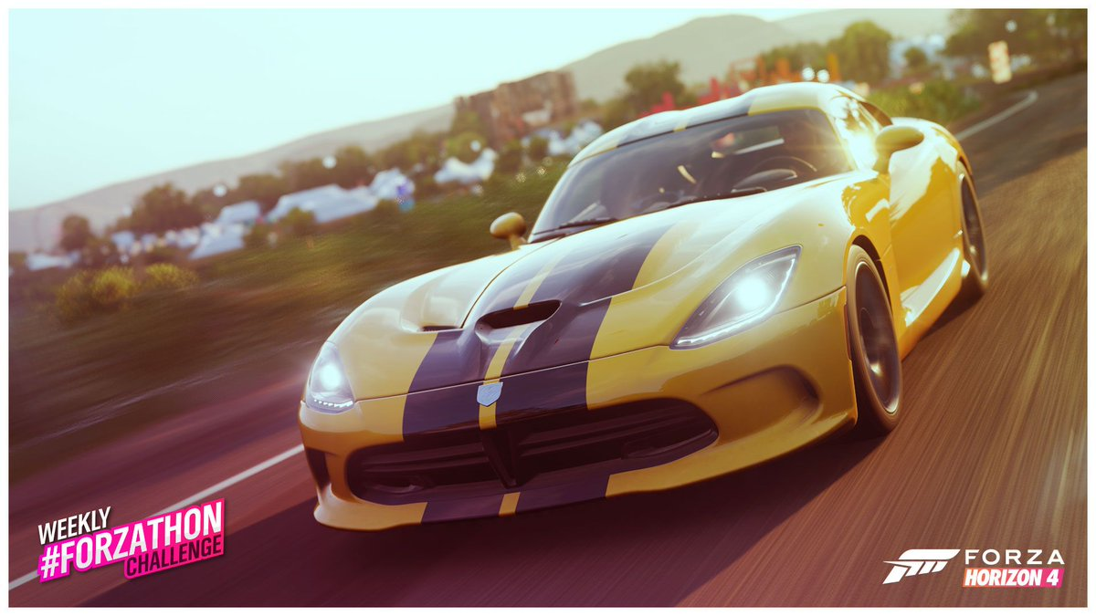 Are you unsure on what to do today? Start off the week by getting into your SRT Viper and completing Summers Weekly #Forzathon challenges in #ForzaHorizon4!